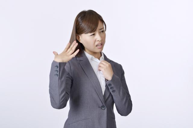 汗に悩む女性